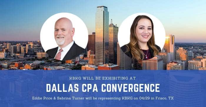 KBKG is Sponsoring Dallas CPA Convergence 2019