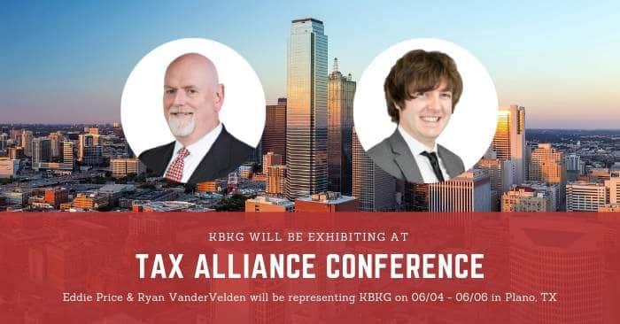 KBKG is Sponsoring Tax Alliance Conference 2019