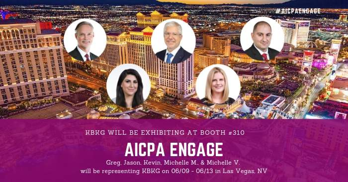 KBKG is Exhibiting at AICPA ENGAGE