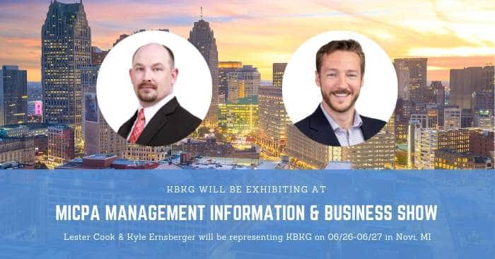 KBKG is Exhibiting at the MICPA Management Information & Business Show