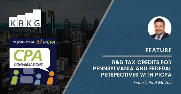 Feature: Research and Development Tax Credits for Pennsylvania and Federal Perspectives with PICPA