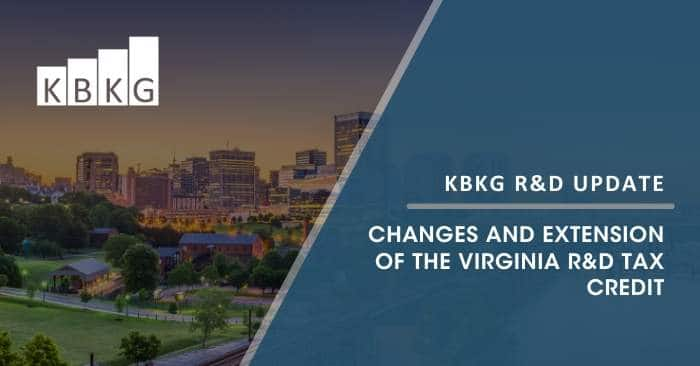 Changes and Extension of the Virginia R&D Tax Credit
