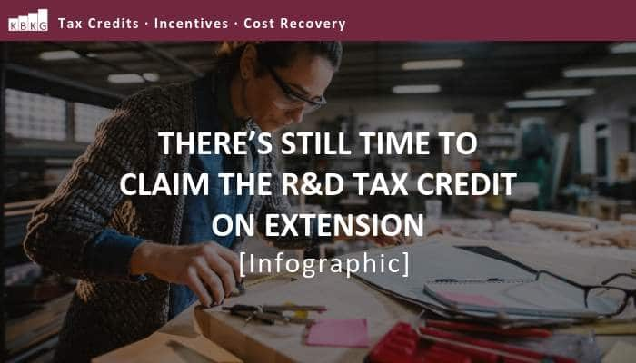 There's Still Time to Claim the R&D Tax Credit on Extension [Infographic]