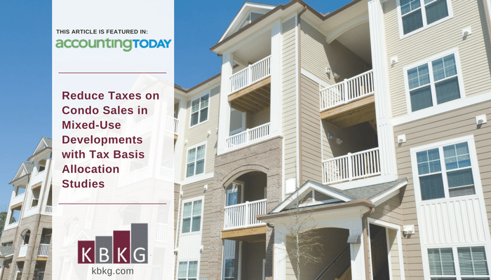 Reduce Taxes on Condo Sales in Mixed-Use Developments with Tax Basis Allocation Studies