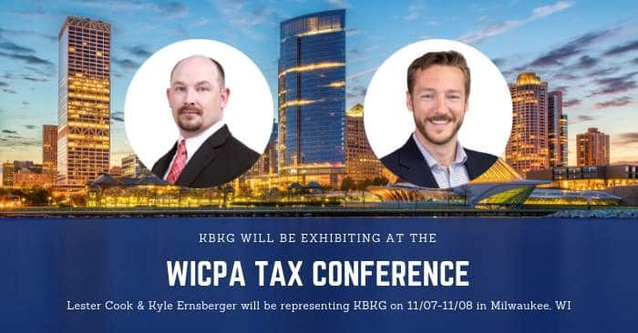 KBKG is Exhibiting at the WICPA Tax Conference