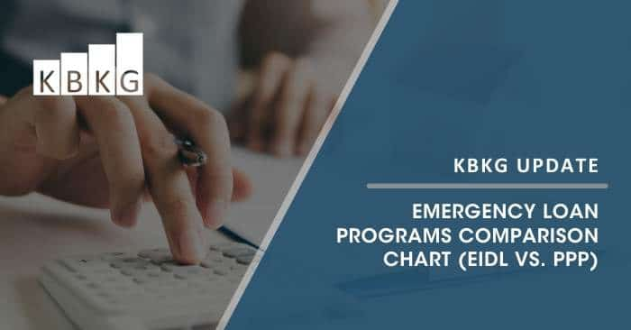 Emergency Loan Programs Comparison Chart (EIDL vs. PPP)