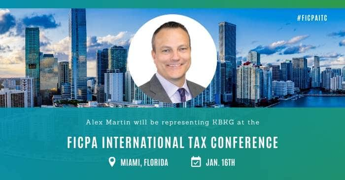 KBKG is Sponsoring the FICPA International Tax Conference