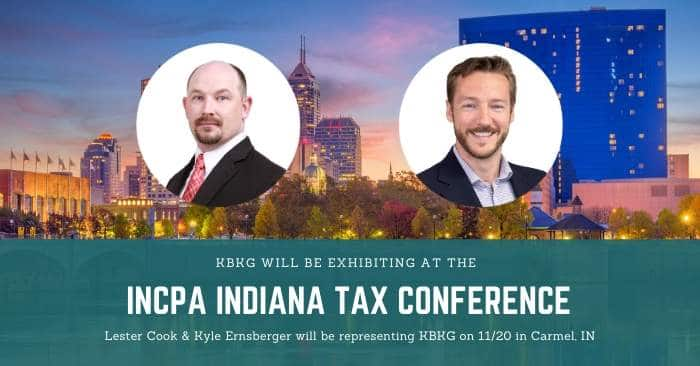 KBKG is Exhibiting at the INCPA Tax Conference