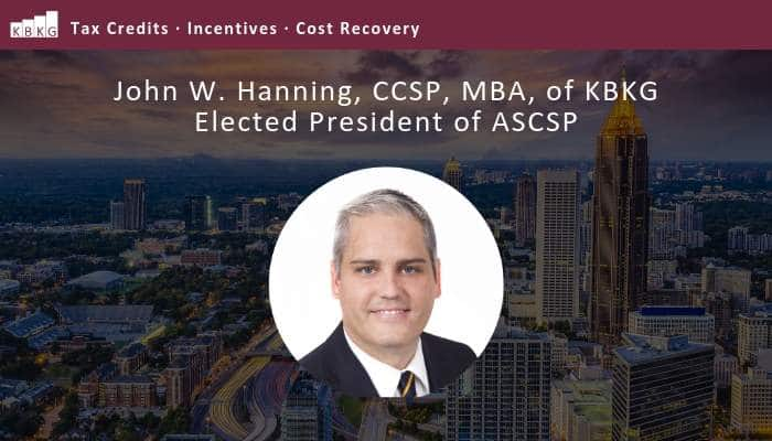 John W. Hanning, CCSP, MBA, of KBKG Elected President of ASCSP