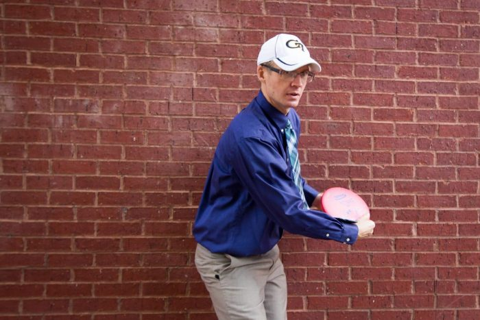 Winston Shurtz with Frisbee | KBKG Southeast