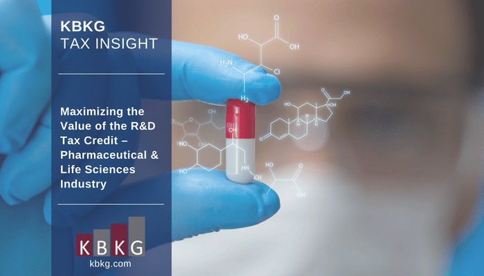 KBKG Tax Insight: Maximizing the Value of the R&D Tax Credit – Pharmaceutical & Life Sciences Industry