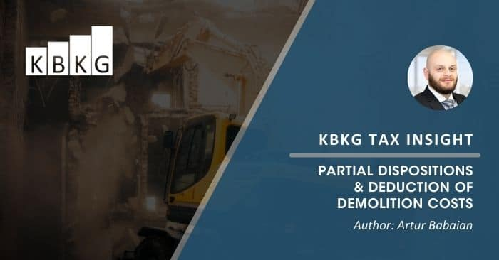 KBKG Tax Insight: Partial Dispositions & Deduction of Demolition Costs