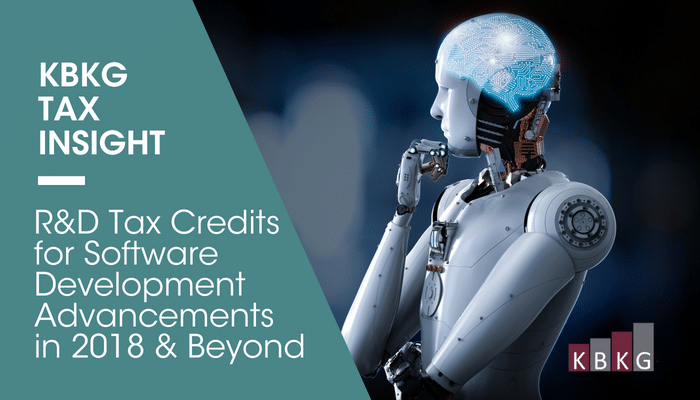 KBKG Tax Insight: R&D Tax Credits for Software Development Advancements in 2018 & Beyond