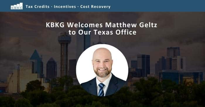 KBKG Welcomes Matthew Geltz to Our Texas Office