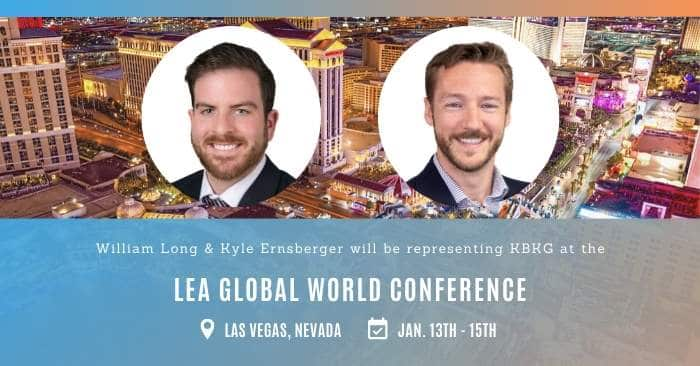 KBKG is Exhibiting at the LEA Global World Conference