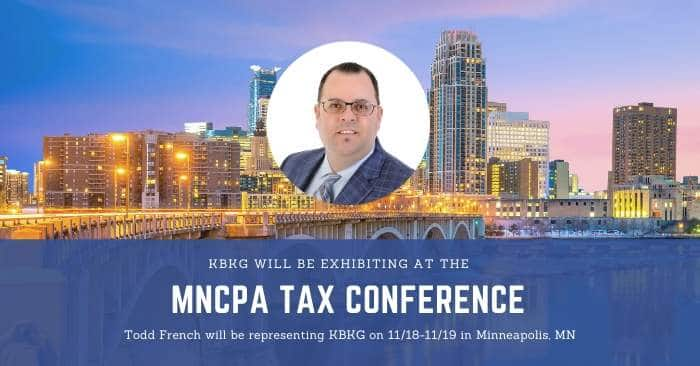KBKG is Exhibiting at the MNCPA 65th Annual Tax Conference