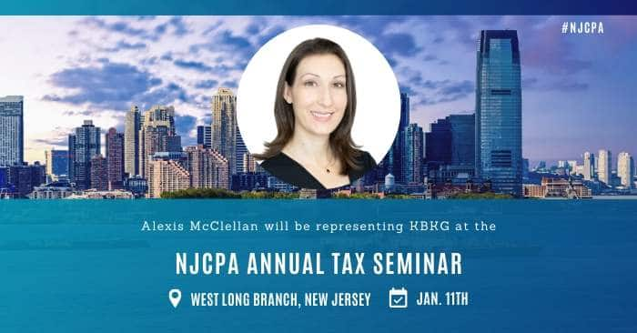KBKG is Exhibiting at the Monmouth/Ocean Chapter NJCPA Annual Tax Seminar