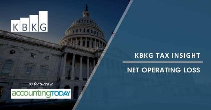 KBKG Tax Insight – Net Operating Loss