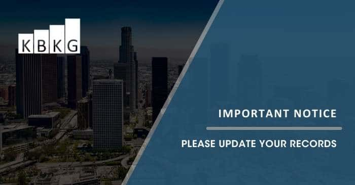 Important Notice – Please Update Your Records