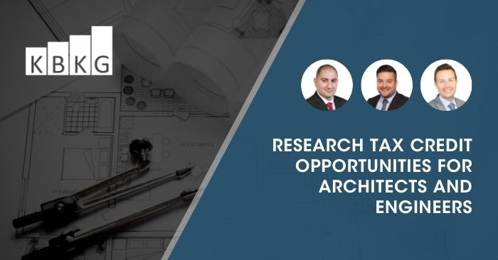 Research Tax Credit Opportunities for Architects and Engineers