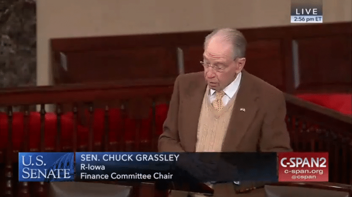 Senator Chuck Grassley's comments on extenders