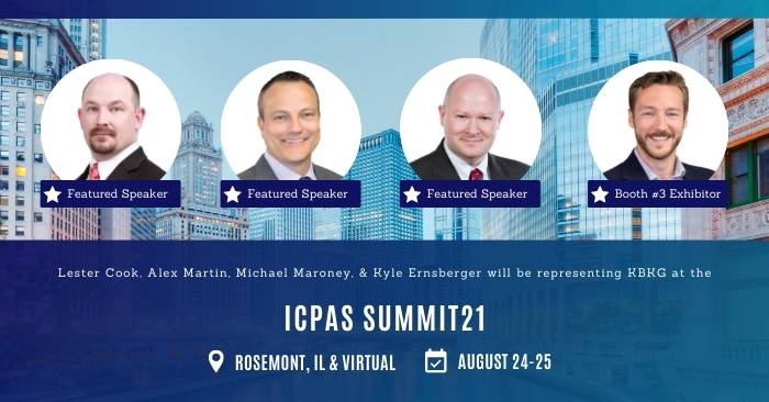 KBKG is Speaking and Exhibiting at the ICPAS SUMMIT21