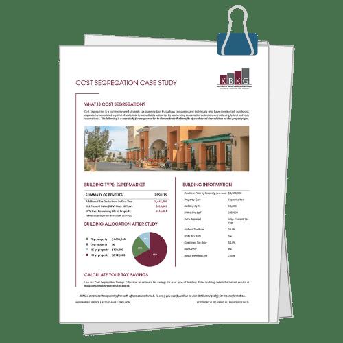 Supermarket Cost Seg Case Study
