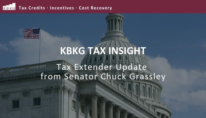 Tax Insight: Tax Extender Update from Senator Chuck Grassley