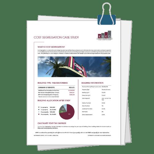 Theater Cost Seg Case Study