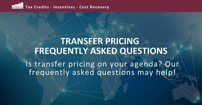 Transfer Pricing Frequently Asked Questions