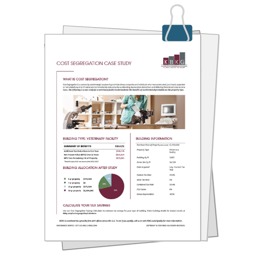 Veterinary Facility Cost Seg Case Study