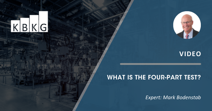 [Video] What is the Four-Part Test?