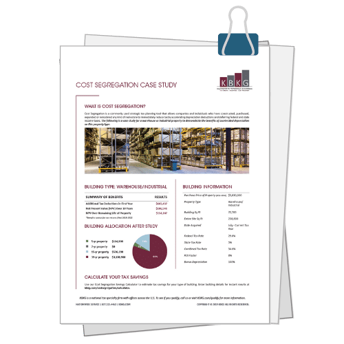 Warehouse/Industrial Cost Seg Case Study