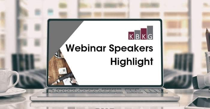 Webinar Speakers Highlight